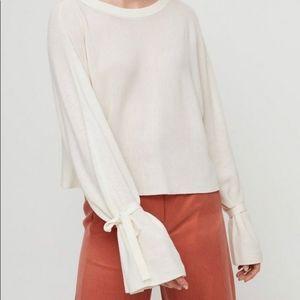 WILFRED Emmy crop sweater 100% merino wool cream